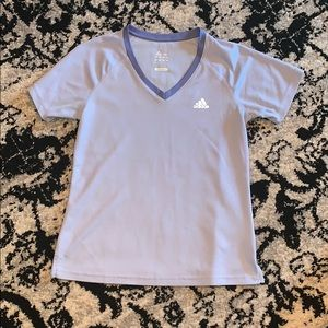 Adidas workout t-shirt in purple/periwinkle